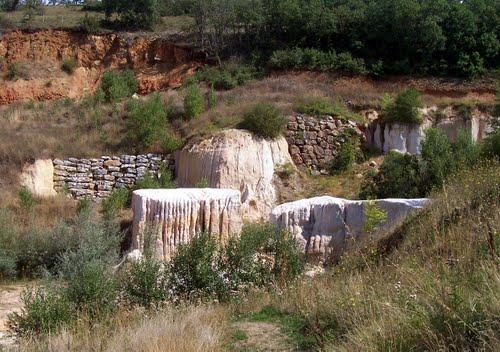 Formaciones areniscas de la laguna de Arenaza
