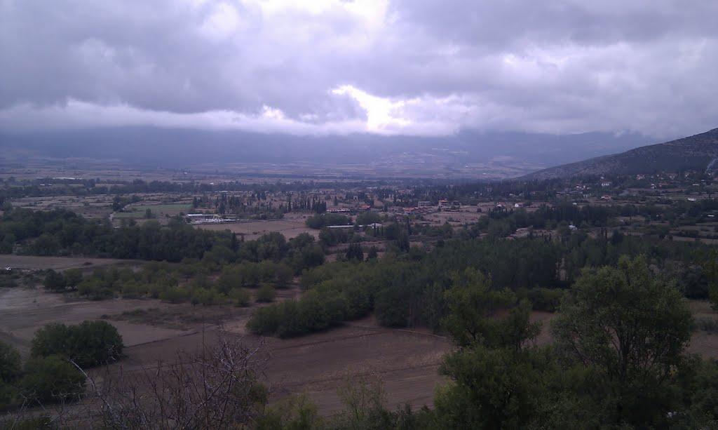 view of Polydrossos, Parnassos, Greece