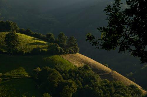 Sunset on Basque mountain