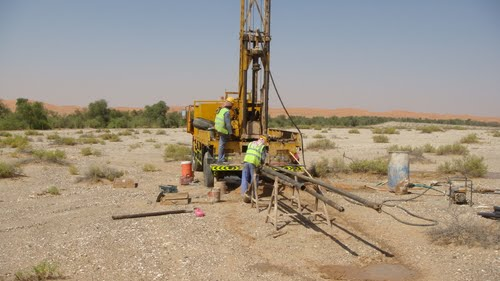 Geotechnical Drilling Rig at Desert - By Eng. Fadi Fayyadh Al Toubeh