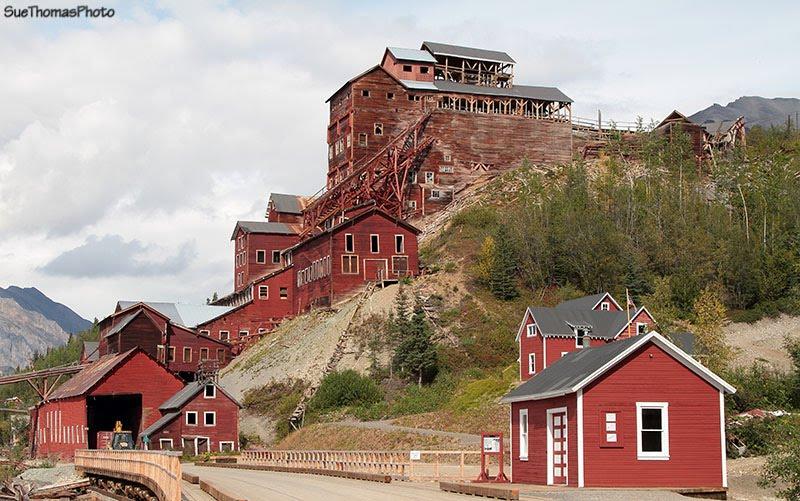At the Kennecott Mine Historic Landmark near McCarthy