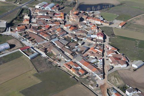 Vista aérea de Negrilla de Palencia