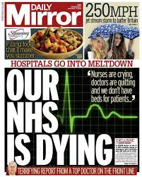 daily mirror nhs is dying