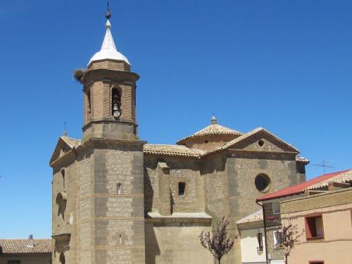 Sierra de Luna, iglesia de Sta. Agueda.
