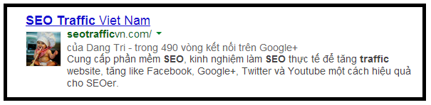 Xác thực Google Author Rank với website https://seotrafficvn.com