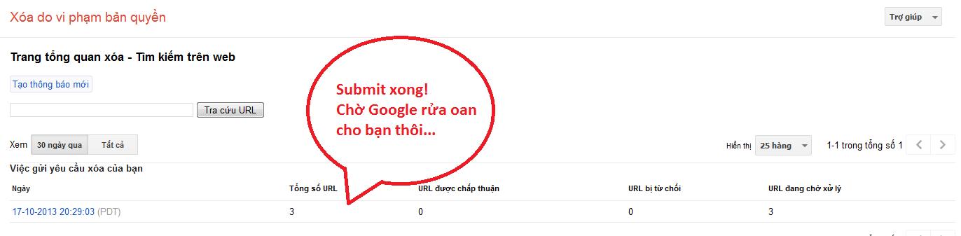 submit report dmca google bảo vệ nội dung website