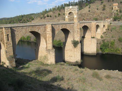 Roman bridge over the Tagus river, Alcántara, Spain
