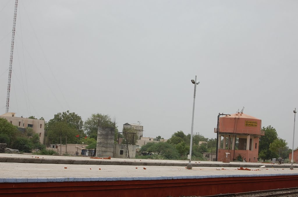DPAK MALHOTRA, water tank n platform Viramgam Railway Stn
