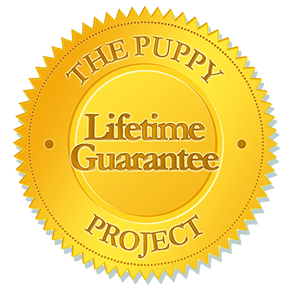 Puppy Project Lifetime Guarantee Seal