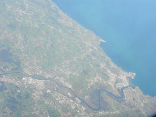 Vista aerea de la ria de Suances.Cantabria , España.( Estepa 32 ).