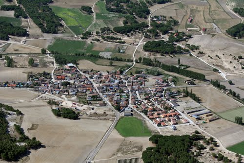Vista aérea de Santibáñez de Valcorba