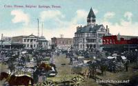 Hopkins County Courthouse, Sulphur Springs, Texas early 1900s