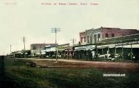 Portion of Front Street, West, Texas early 1900s