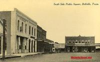 South Side of the Public Square, Bellville, Texas 1900s