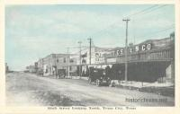 Sixth Street Looking North, Texas City, Texas 1910s