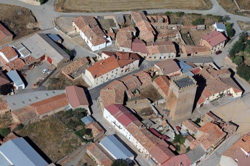 Vista aérea de la torre de Noviercas