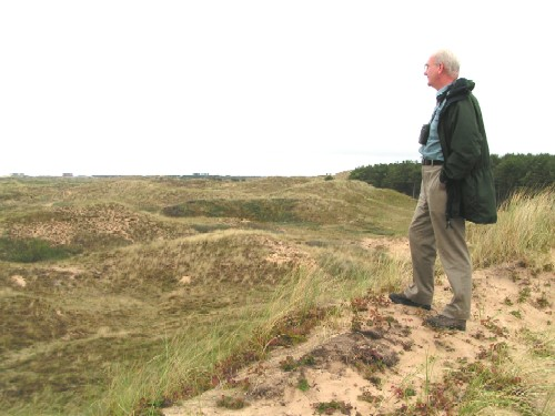 John Houston on the Ainsdale Dunes