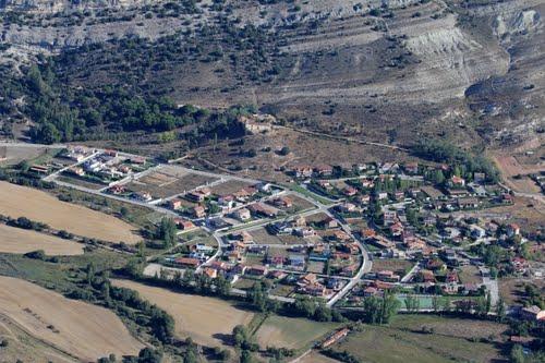 Vista aérea de la urbanización La Toba, en Fuentetoba, término de Golmayo