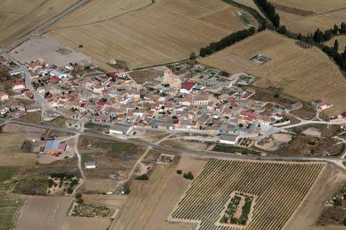 Vista aérea de Villovela de Esgueva