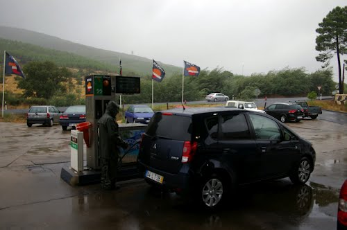 Gasoline is cheaper in Spain! Near the border with Portugal
