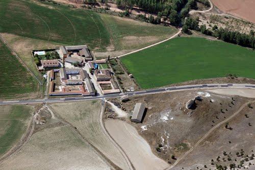 Vista aérea de la Granja Pinilla de Arlanza, en Peral de Arlanza