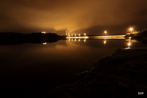 Embalse de Rio Cobo de noche