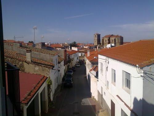 Calle Lagares, Mata de Alcántara.