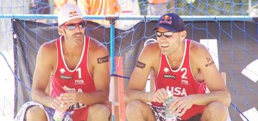 Rogers / Dalhausser discuss tactics at the Klagenfurt Grandslam  2012
