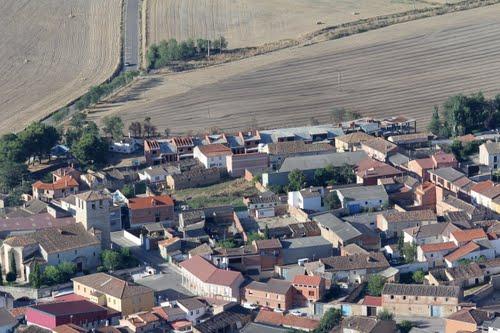Vista aérea de Castronuevo de Esgueva