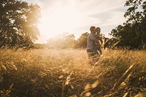 Golden Gorgeous Countryside Engagement Session in Austin, Texas