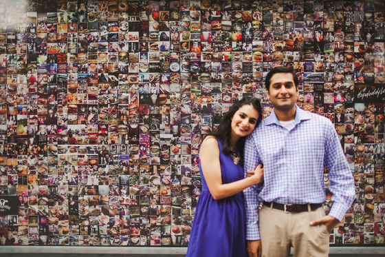 A vibrant South Congress engagement session in Austin, Texas