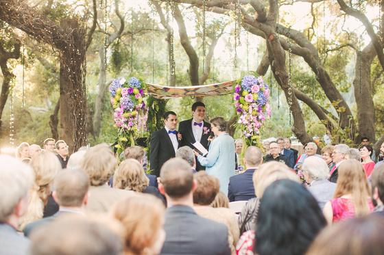 An charming gay wedding at Calimigos Ranch in Malibu, California