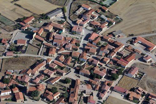 Vista aérea de Almajano