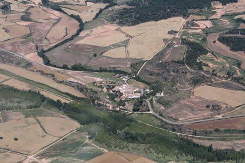 Vista aérea de Castellanos de Bureba