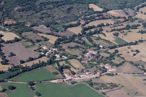 Vista aérea de Santa Olalla de Valdivielso