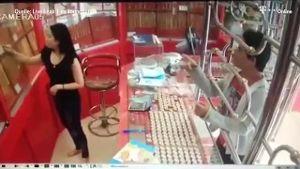 Golddieb hat sich mit der falschen Verkäuferin angelegt. (Screenshot: t-online.de)