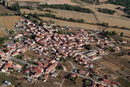 Vista aérea de Villanueva de Gumiel