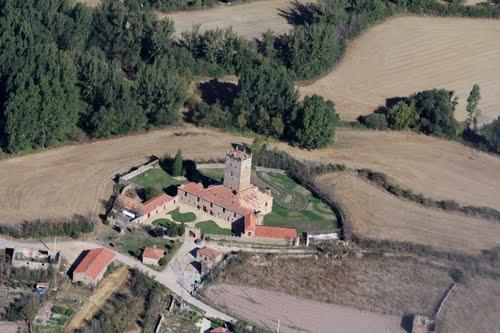 Vista aérea del palacio-castillo de Aldealseñor