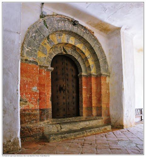 Portada interior de la parroquia dedicada a San Juan Bautista, Etsain, Anué (Navarra)