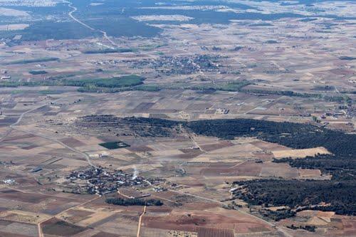Vista aérea de Fuente Encalada y San Pedro de la Viña