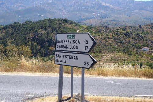 Camino a Serranillos, donde nacieron mis abuelos
