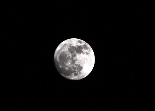 Luna desde Villapalacios, Albacete