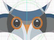 AI教程!手把手教你绘制色彩丰富的卡通猫头鹰