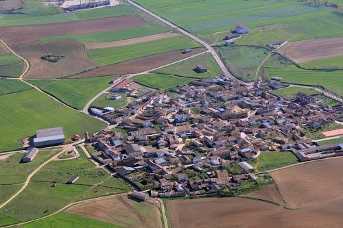 Vista aérea de Santervas de Campos