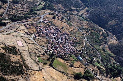 Vista aérea de La Herguijuela