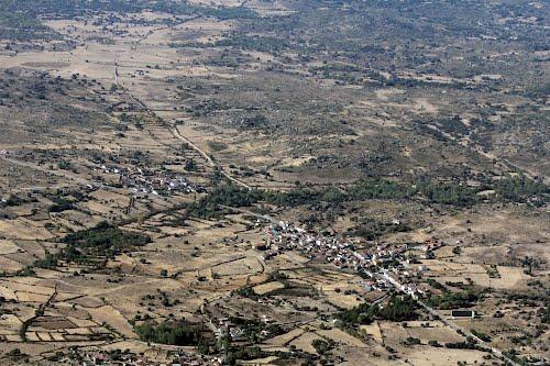 Vista aérea de La Magdalena, y El Tejado