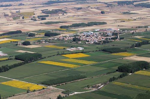 Vista aérea de Villaluenga de la Vega