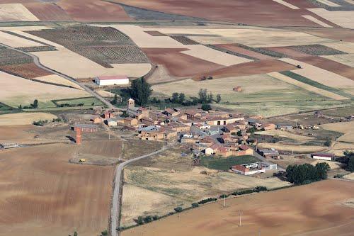 Vista aérea de San Pedro de los Oteros