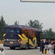 黑大巴车拉了52人旅游 咸阳交警运政及时查处