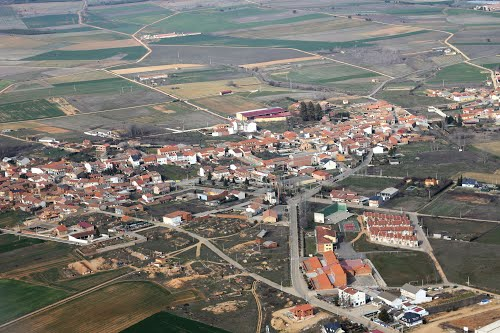 Vista aérea de Santibáñez de Vidriales